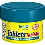 Tetra Tablets TabiMin Hauptfutter (Futtertabletten für am Boden gründelnde Zierfische, für alle bodenfressenden und scheuen Fische), 58 Tabletten Dose