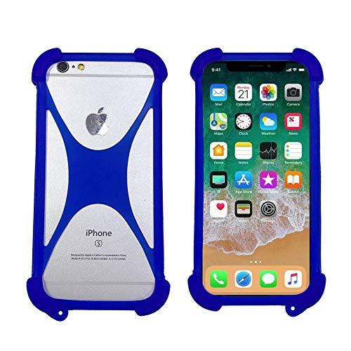 ABCTen Handyhülle für Ulefone Vienna S1 S7 S8 S9 U007 U008 Pro Paris X Future Be Touch 3 Silikon Schutz Hülle Cover Case Bumper Tasche Elastischem Weiche Ecken Anti-Shock Stoßfest Kissen (Blau)