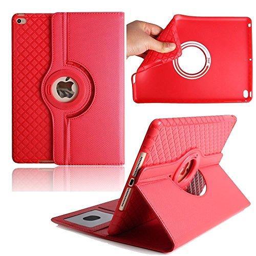 iPad Mini 4 Hülle, elecfan® 360 Grad rotierende Schutzhülle Auto aufwachen / Schlaf Funktion und Einstellbarem Blickwinkel Funktion Schutzhülle für iPad Mini 4 (iPad Mini 4, Rot) Rot