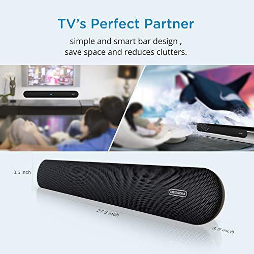 518iyWsSZ6L. SS500  - Soundbar, MEGACRA 80 Watts TV Sound Bar Home Theater Speaker with Dual Connection Way, Bluetooth 5.0, Movie/Music…