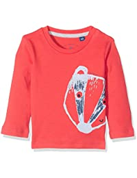 TOM TAILOR Kids Baby Boys' T-Shirt With Flock Print Long Sleeve Top