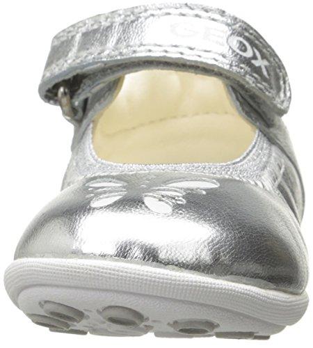 Geox B Jodie A, Chaussures Marche Bébé Fille Argent (Silverc1007)