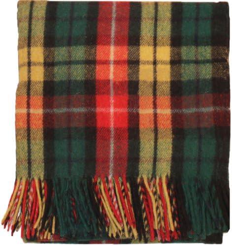 ILuv Highland Scottish Wool rug Blanket Throw Throw Throw Buchanan Tartan 69  x 62  (175cm x 157 cm) | Qualità In Primo Luogo  | qualità regina  047900