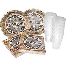 heku 30005–Set di 133Party USA E GETTA, altri, barbecue Season, 40x 29x 17cm, 64unità