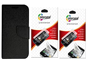 Colorcase Flip Cover Case for Asus Zenfone 2 Laser ZE601KL (6.0) with 2 Screenguards