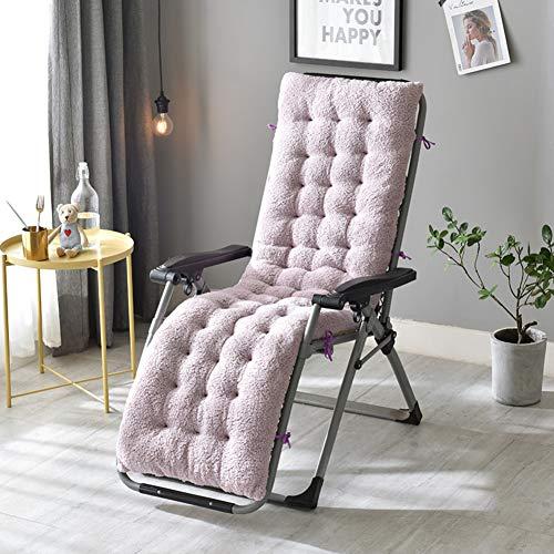 LoveLife Lounge Stuhlkissen,Patio Chaise Lounge Kissen,Volltonfarbe Verdickt Nicht-Slip Für Garten Sonnenliege Stuhlkissen Für Gartenmöbel(Stuhl Nicht Enthalten)-b 160x50x12cm(63x20x5inch)