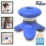 #1: Dr Physio Mini Full Body Hand Massager Machine for pain relief ( head, face, foot ) 3 AAA batteries included