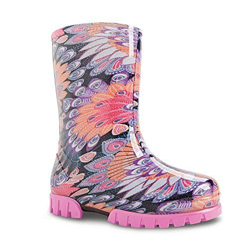 Demar Colourful Children's Rubber Boots With Many Motifs, Twister Print
