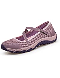 H-Mastery Zapatos Deportivo de Verano Zapatillas para Mujer con Velcro Cómodos Malla Transpirable Ligero Casuales Caminar Calzado