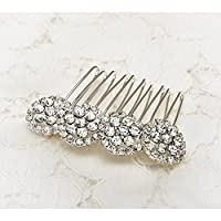 John Greed Vintage Style Floral Crystal Hair Comb