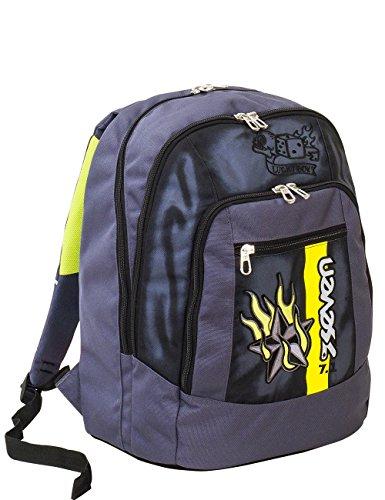 Zaino scuola advanced seven - color boy - grigio - 30 lt - inserti rifrangenti
