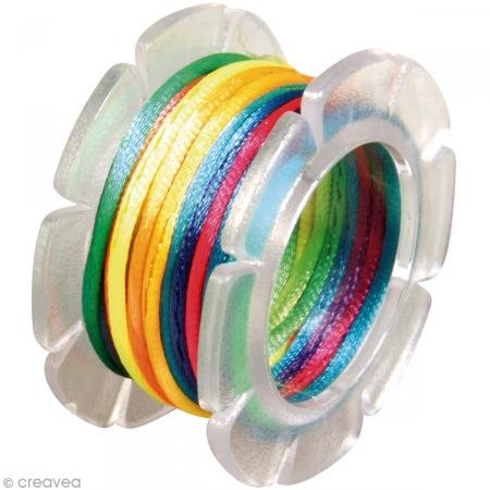 Rayher Hobby 89990999 Nylon Bastelkordel, 1 mm Durchmesser auf Spule, SB-Beutel 5 m, Multicolor