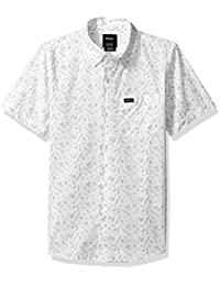 RVCA Big Boys' Sea and Destroy Short Sleeve Shirt