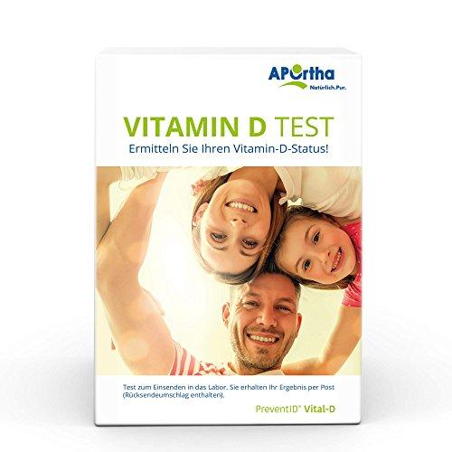 APOrtha® Vitamin D Test - Testkit zur Bestimmung des D3 Spiegels von Zuhause - Befundmitteilung erfolgt als persönlicher Brief.