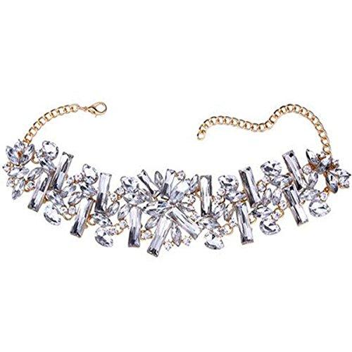 PLMOKN Beliebte Wassertröpfchen Geometrische Kurzen Abschnitt Halskette Wilde Weibliche Kettenschloss Kette Bohren,2-OneSize