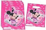 6 Stk. Partytüten Minnie Mouse Geburtstagstüten Folie Mitgebsel Tüten Tasche rosa Mädchen Disney