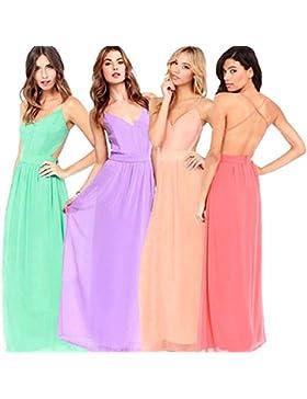 La mujer es el verano sin respaldo vestidos de noche vestido de fiesta vestido de playa