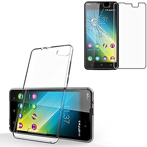 HQ-CLOUD Coque gel en silicone transparent pour WIKO LENNY 2 + 1 Verre Trempé de protection d'écran