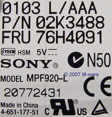 Diskettenlaufwerk Sony MPF920-L ID887 - 3