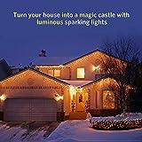 Quntis 4 m × 0,6 m 144 LED Lichterkette Lichtervorhang Warmweiß, Wasserfeste Fenster Lichterkette, Beleuchtung für Weihnachten, Party, Outdoor, Hochzeit, Dekoration usw. Vergleich
