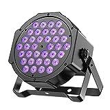 Specifiche tecniche: Colore chiaro: Viola Aspetto: Nero Caso Quantità del LED: 36LED illuminazione di modo: controllo del suono, la luce automatica. angolo a fascio: 180 ° Tensione di funzionamento: AC 90-240V Interfaccia: 3 presa dei perni X...
