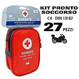 Kiksafe Erste-Hilfe-Set, Verbandtasche, für Motorrad und Fahrrad, DIN 13167