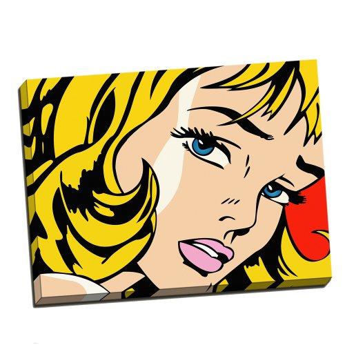Roy Lichtenstein Girl Pop Art gerahmt, 24