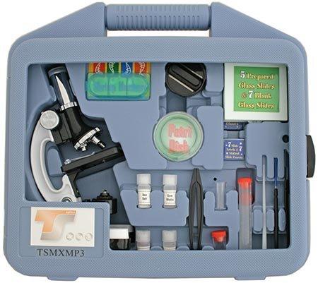 TS Optics Junior Mikroskop Lern Set 900-fach für Schüler und Jugendliche 28-teilig, TSMXMP3