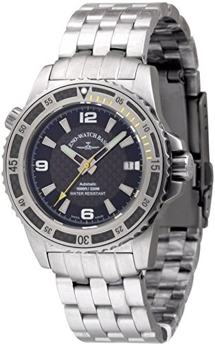 zeno-watch mens watch - professional diver automatic yellow - 6427-s1-9m
