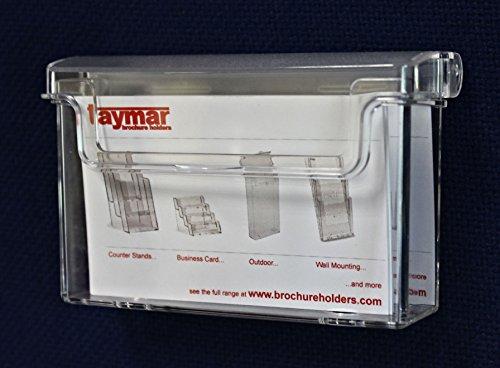 Image of Taymar OD95 Single Pocket Outdoor Landscape Business Card Holder - Clear