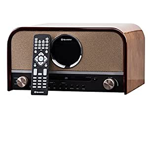 roadstar hra 1750d bt dab nostalgie retro radio mit cd mp3 player im holzgeh use 80 watt. Black Bedroom Furniture Sets. Home Design Ideas