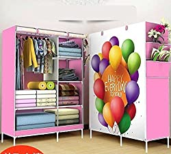 Dreamworld Wardrobe Organizer, Storage Rack for Kids and Women, Clothes Cabinet, Bedroom Organizer colour & pattern as image