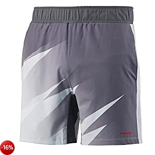 HEAD Vision Graphic Short Mens, Pantaloncini Uomo, Anthracite, Double Extra Large
