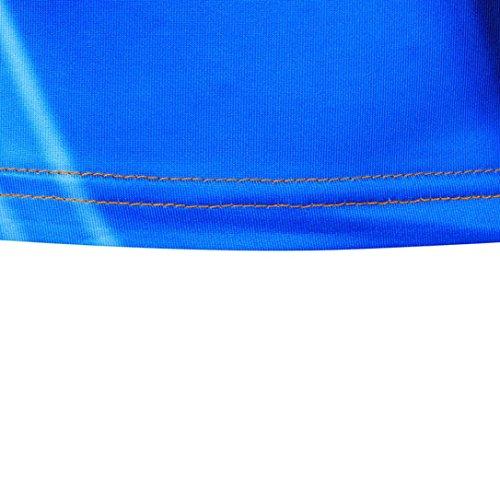 OverDose Herren Sommer Basic T-Shirt Printed Slim Fit Casual Kurzarm T-Shirts Tops Sport Bluse Mehrfarbig C