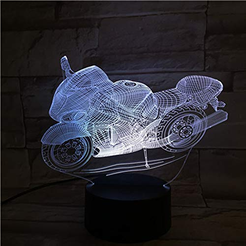 BYoubass 3D Night Light Remote Control Motor-Driven Seven Touch LED Visual Light Lamp Plate