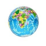 Muium   2019 Creativo Juguete de antiestres con Forma de Tierra Alivio del estrés Mapa del Mundo Bola de Espuma Globo del Atlas Bola de la Palma Planeta Tierra (B)