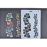 amupper flores plantilla guía para niños–Flexible de plástico tamaño 10.2por 6,7pulgadas Lace01 blanco