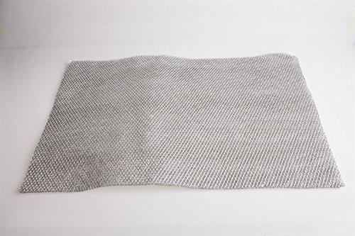 Metallfettfiltermatte Universal 570x470mm, Filtermatte Metall für Dunstabzugshaube, zuschneidbar