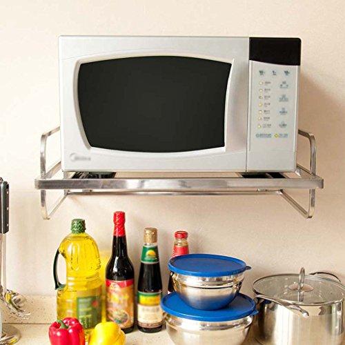 Preisvergleich Produktbild QFF Edelstahl Einschichtige Küche Mikrowelle Ofen Racks Küchenutensilien Dick Wandhalterung