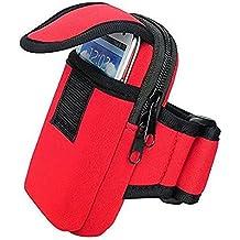 La & Esto brazalete deportivo de neopreno/unidad funda unidad/Cinturón Para Su Teléfono Móvil & Smartphones De Los Viajes, fitness, Correr, Correr, Ciclismo, Racing, spazierung & # xff08; adecuado para Apple iPhone 4, 4S, 5, 5S, 5C, 6, Samsung Galaxy Note 2, 3, Samsung Galaxy S5, S5Mini, S4, S4Mini, S3Mini & # xff09;, rojo