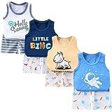 XM-Amigo 8 Pack de niños o bebés, Camiseta sin Mangas, Chaleco, Tops, Pantalones Cortos, Conjuntos de Ropa, Edad (6 Meses a 5