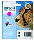 Epson Original T0713 Tinte Gepard, wisch- und wasserfeste (Singlepack) magenta