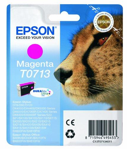 Epson T0713 Cartouche d'encre d'origine DURABrite Ultra Magenta