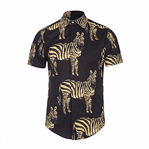 MAYUAN520 Camisa de Hombre Camisa de Hombre Chaqueta_Cebra Camiseta 3D,L