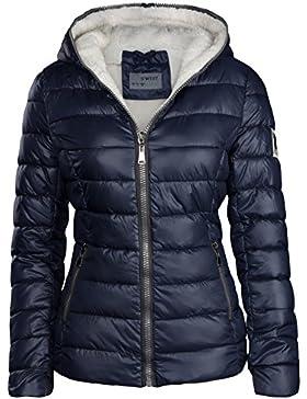 Chaqueta de invierno de mujer forrada corta acolchada de plumón con capucha, chaqueta de esquí térmica, nueva