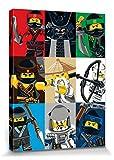 1art1 106971 The Lego Ninjago Movie - Charaktere, Sensei Wu, Garmadon Poster Leinwandbild Auf Keilrahmen 80 x 60 cm