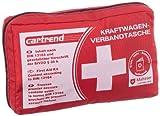Cartrend 7730042 - Cassetta pronto soccorso con velcro, a norma DIN 13164, con norme di primo soccorso, colore: Rosso