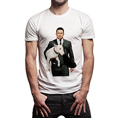 Magic-Mike-XXL-With-His-Dog-Layer-0.jpg Herren T-Shirt Weiß