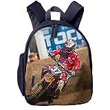 Kinderrucksack Motocross Dirt Bike Motorrad 47, Schulrucksack für Mädchen und Jungen Schultasche...