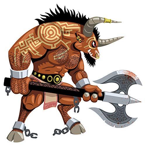 dekodino® Pegatina de pared Monstruo Vikingo juvenil predadores adolescente
